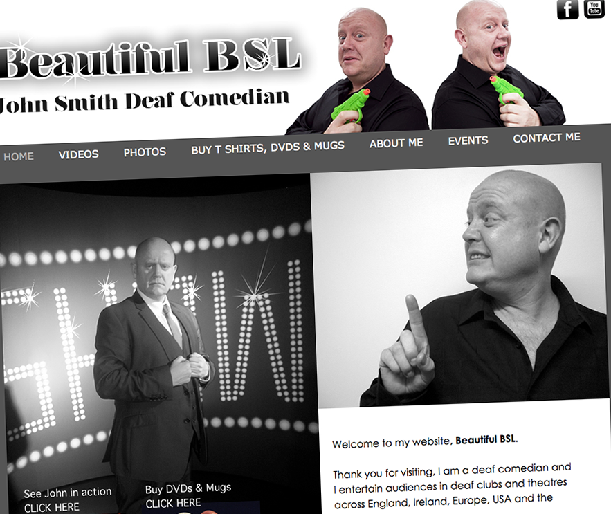 website for deaf comedian