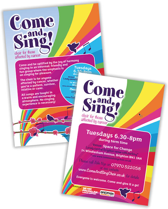Flyer design - come and sing choir