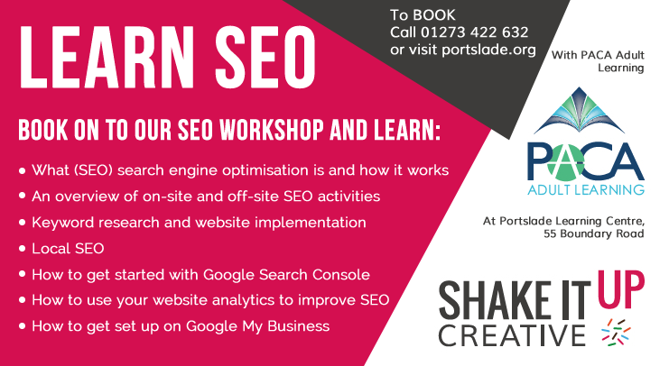 Learn SEO with Shake It Up Creative at Portslade Learning Centre