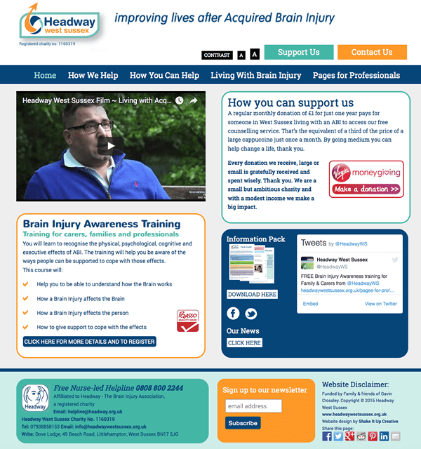 Website design Headway West Sussex