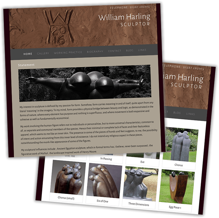 Website build for William Harling