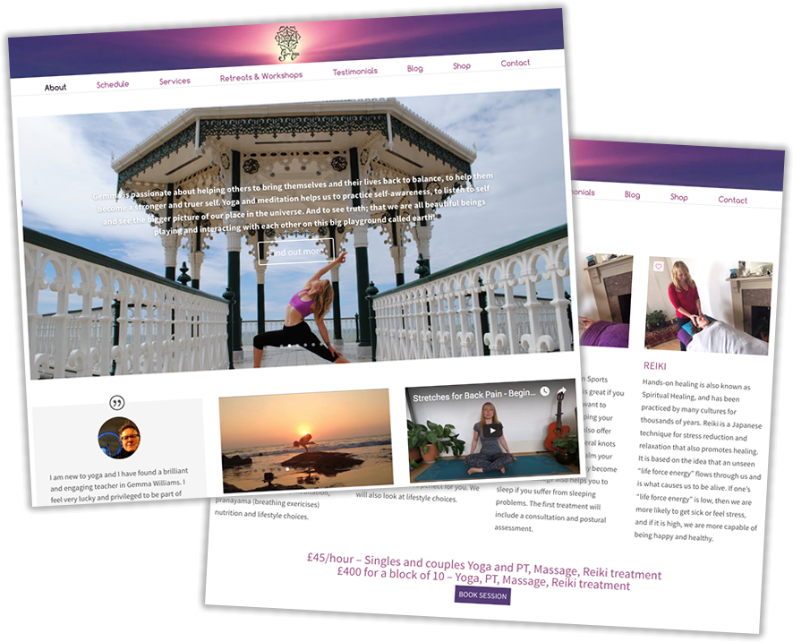 Gem Yoga website