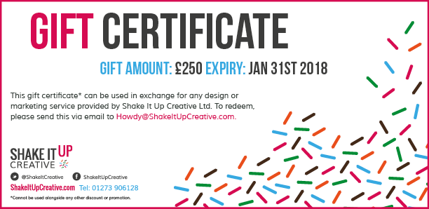 Buy a Shake It Up Creative Gift Certificate