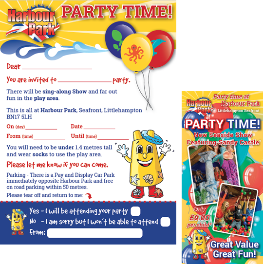 Birthday Party invitations - Harbour Park