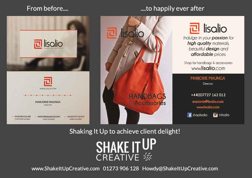 Business card design - Lisalio