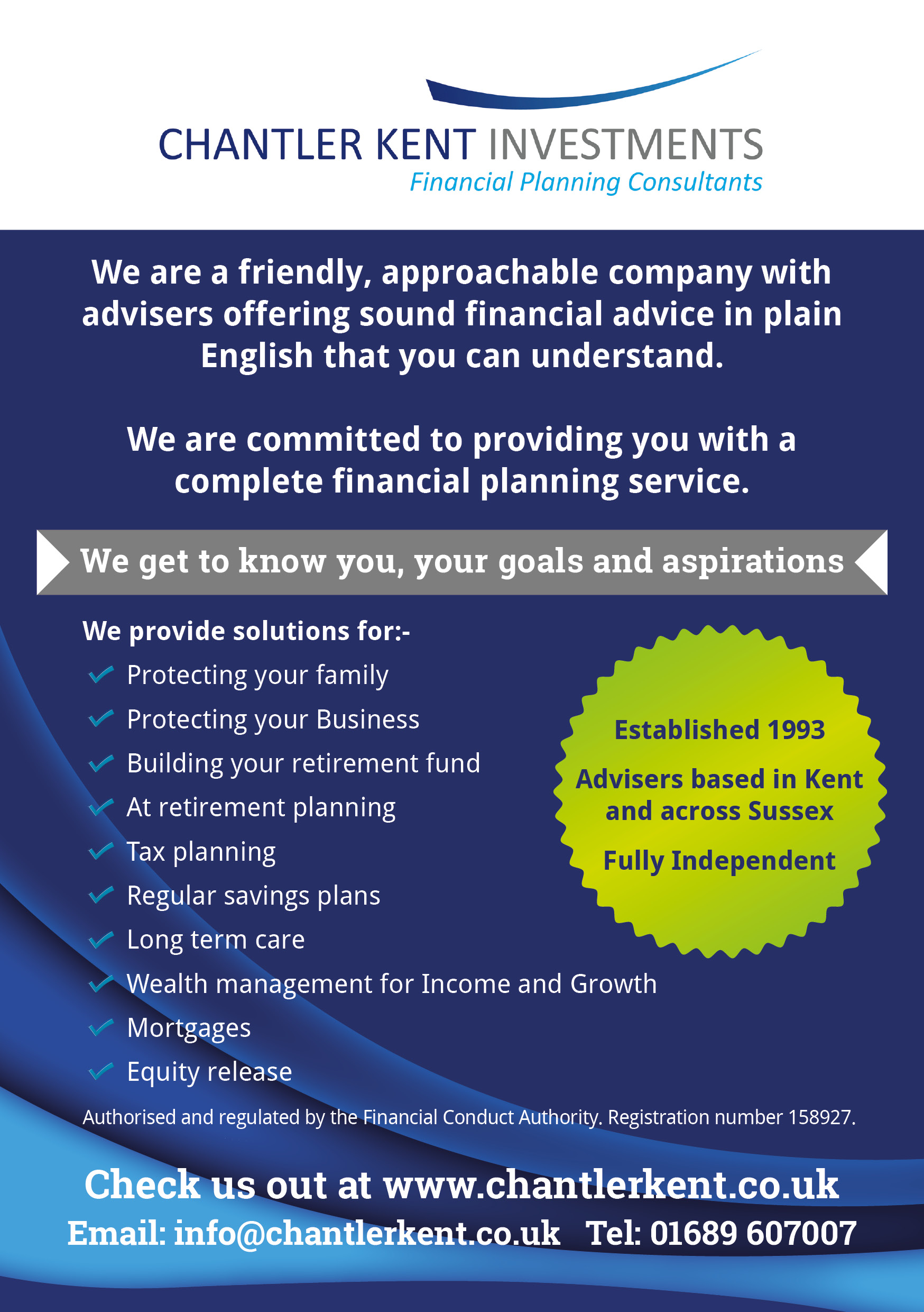 Flyer design - Chantler Kent Investements