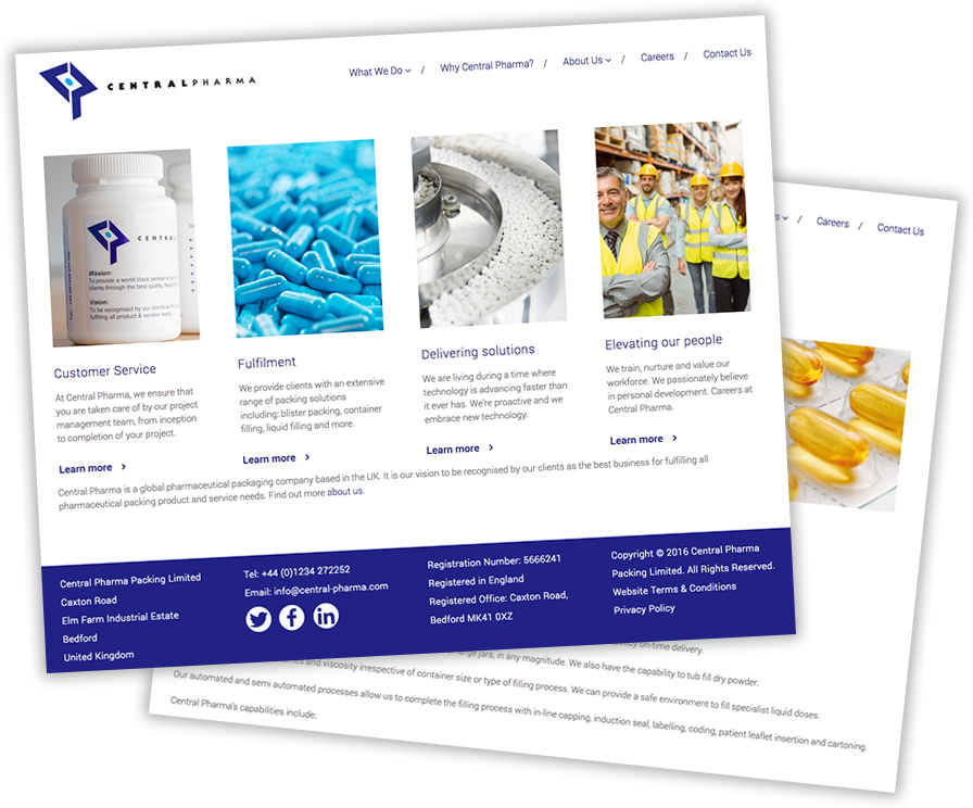 Web design - Central Pharma