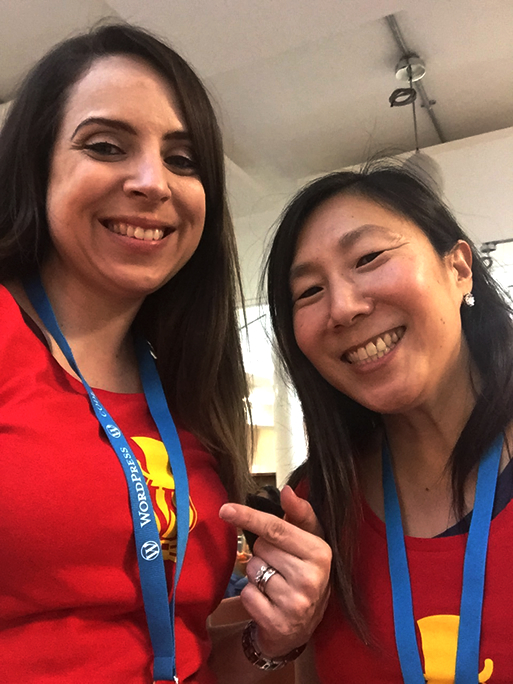 Meg and Rachael at WordCamp London