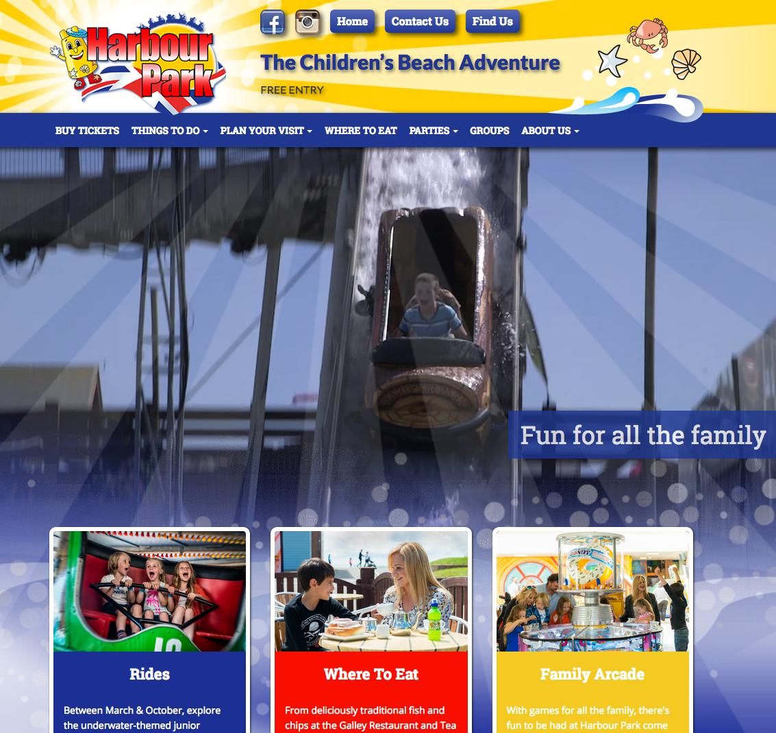Web design for Harbour Park