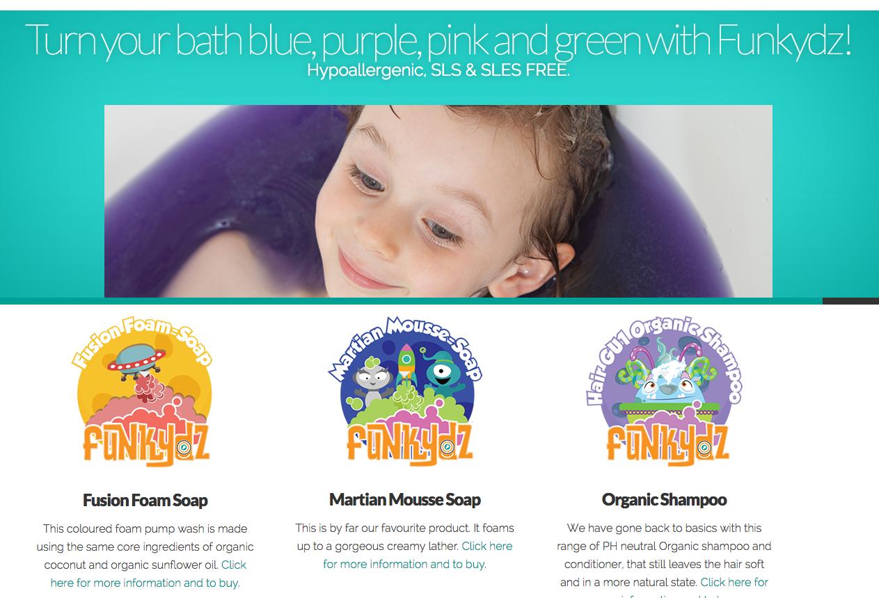 Web design for Funkydz