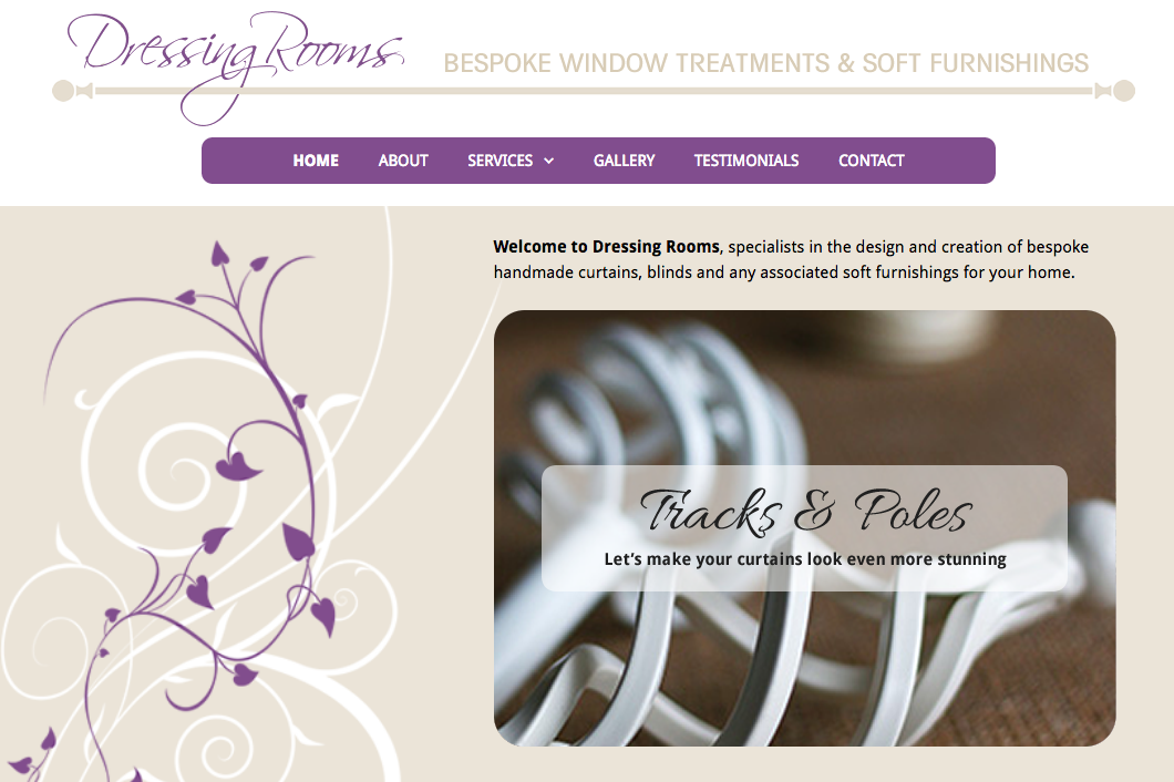 Web design for Dressing Rooms