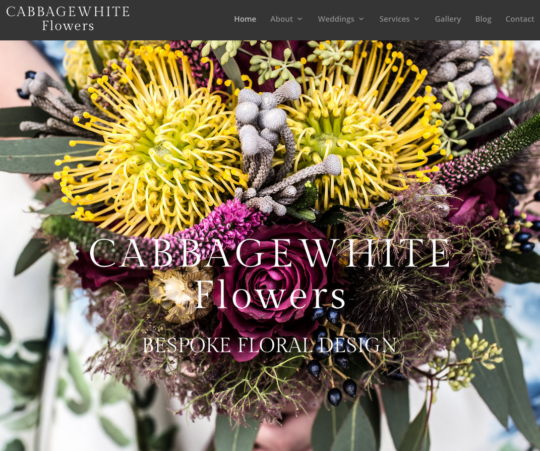Web design Cabbagewhite Flowers
