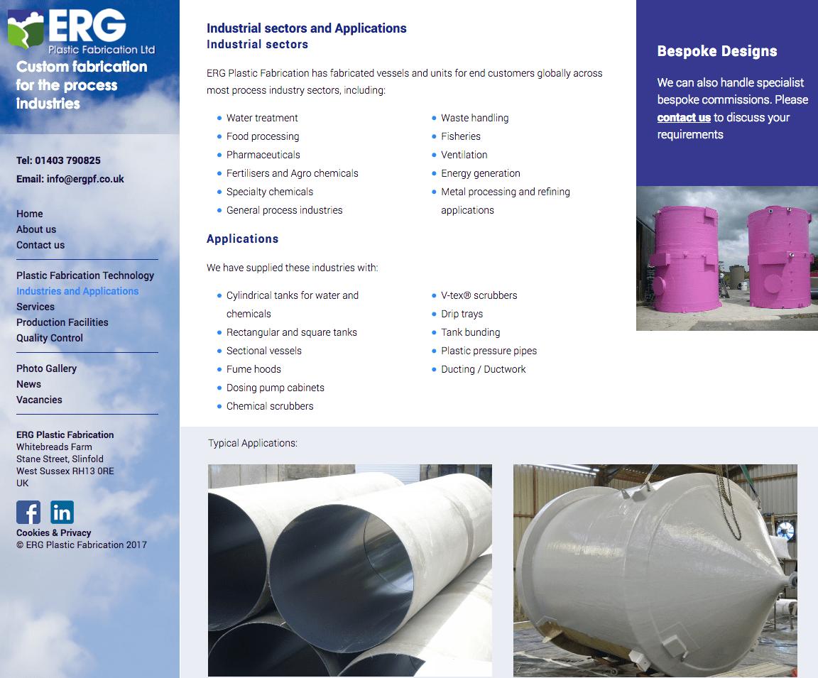 ERG Plastic Fabrication West Sussex UK