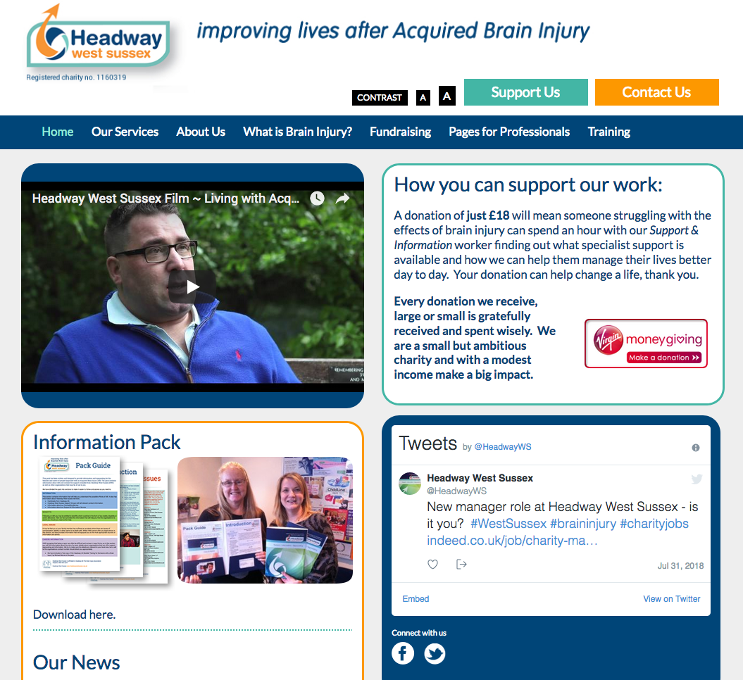 Headway West Sussex website design