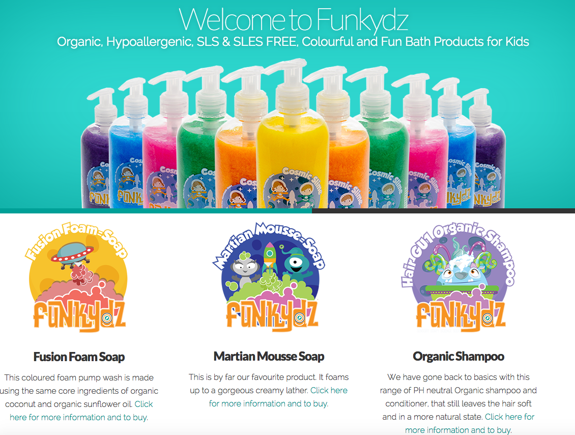E-commerce website for Funkydz