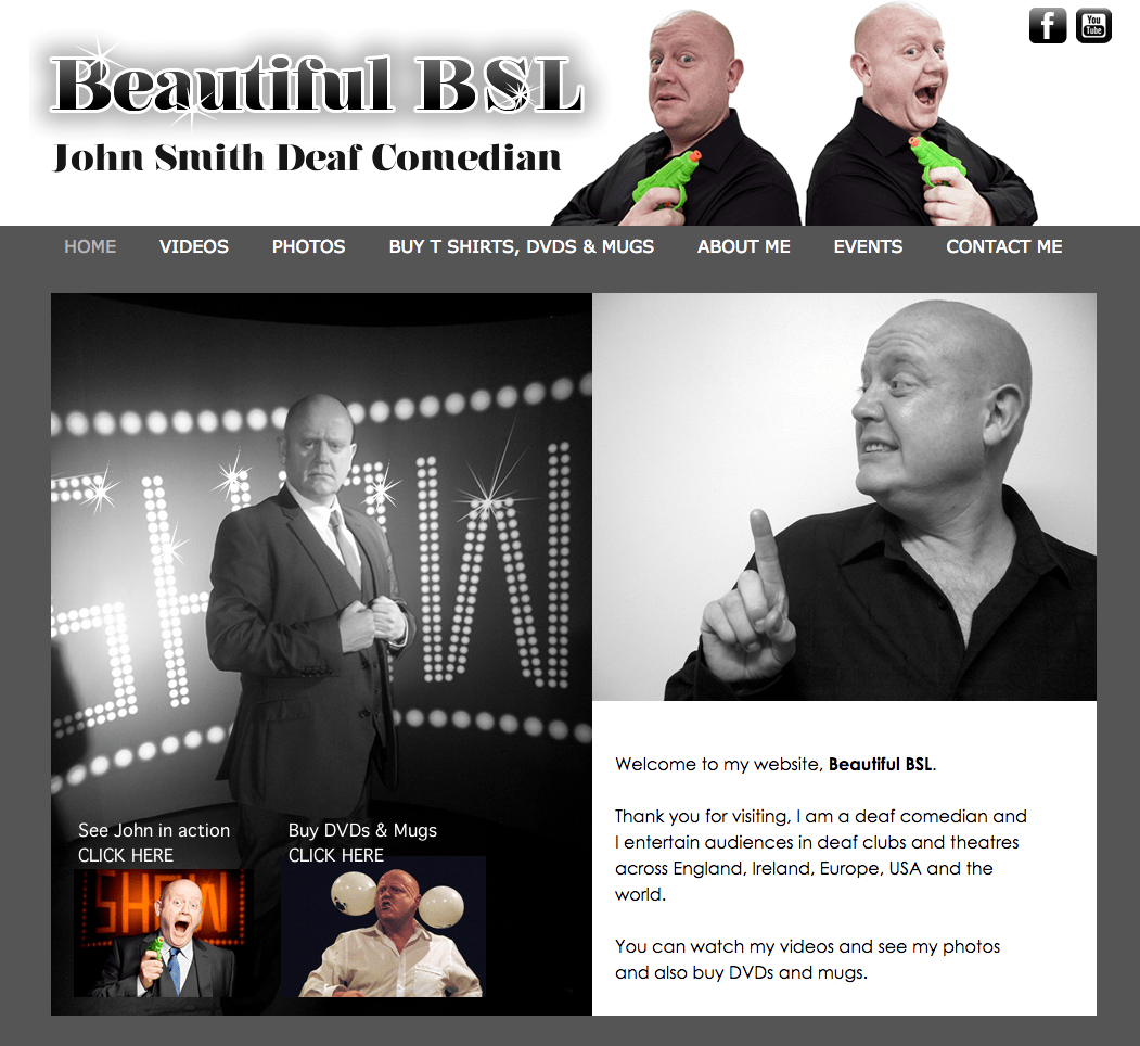 Deaf comedian John Smith Beautiful BSL
