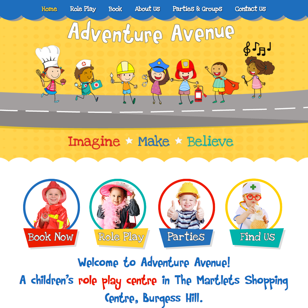 Adventure Avenue web design