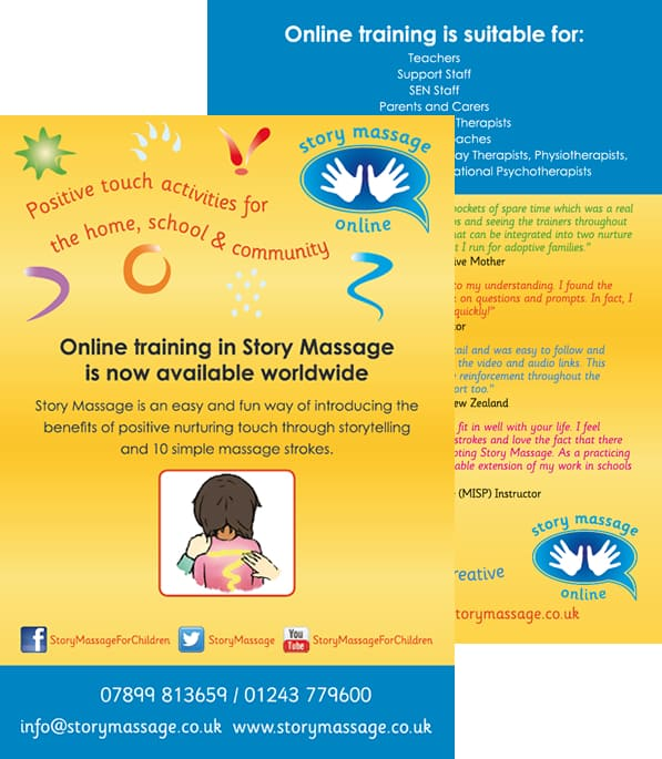 Graphic design for Story Massage