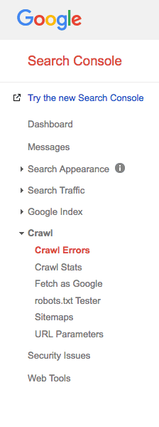Google search console crawl stats to look into website traffic drops