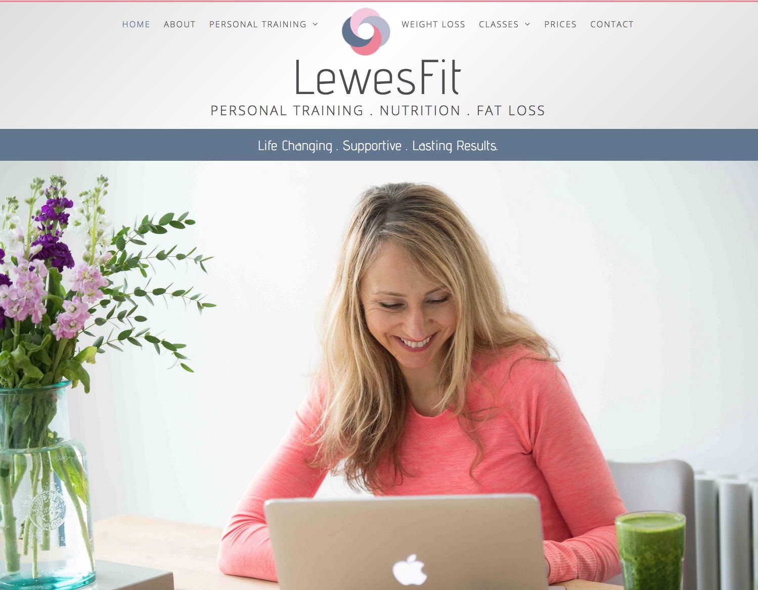 LewesFit web design