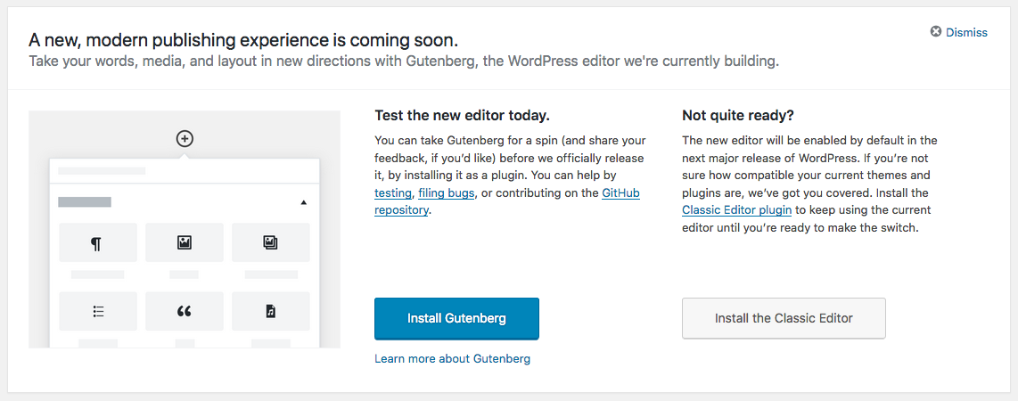 Gutenberg for WordPress 5.0