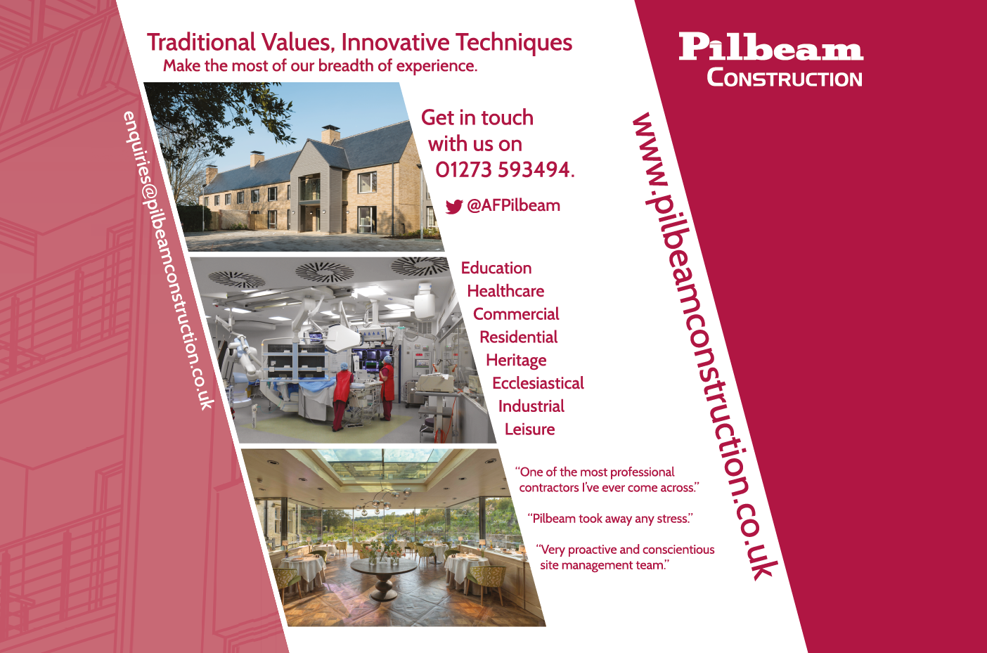 Exhibition design for Pilbeam Construction