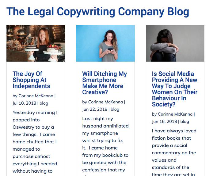 Marketing work for The Legal Copywriting Company