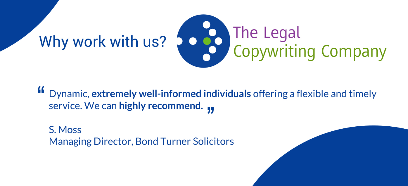 The Marketing work for Legal Copywriting Company