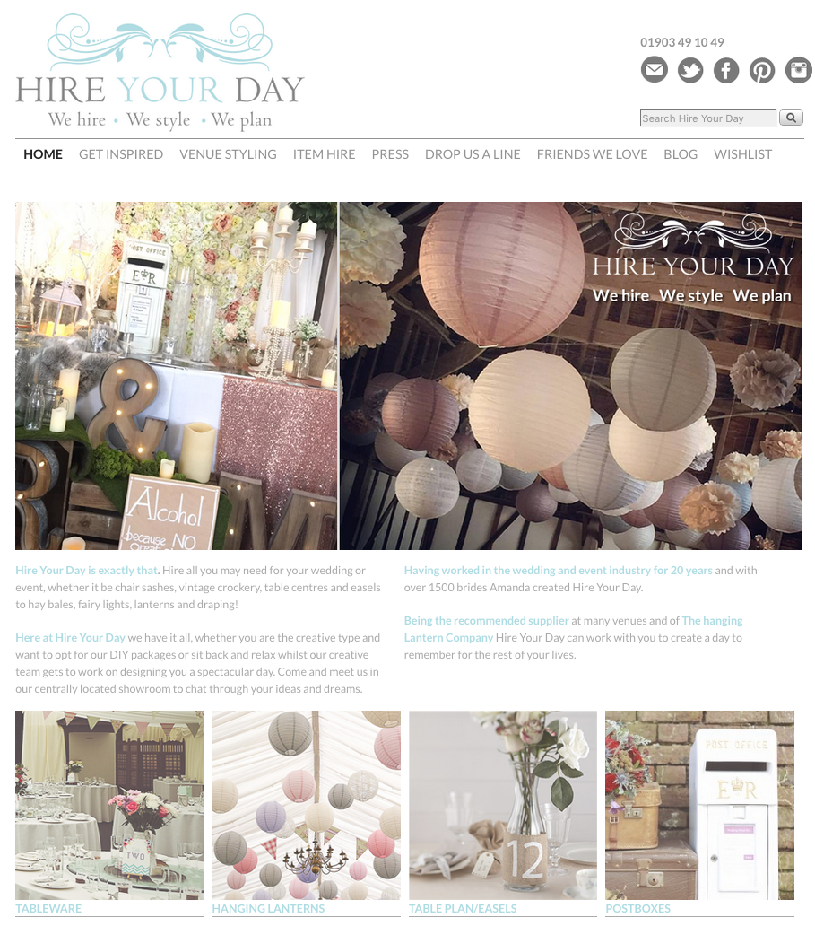 Web design and build for Hire Your Day