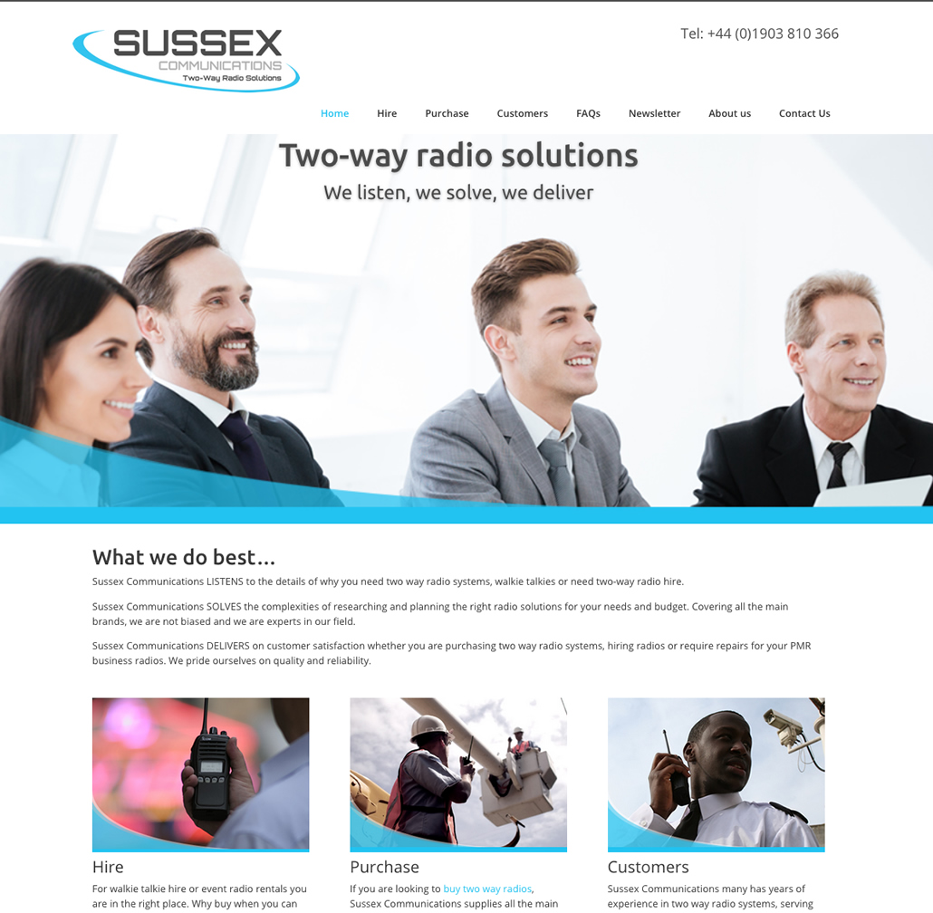 Website design and build for Sussex Communications
