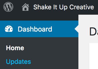 Update your WordPress website after you've taken a back up